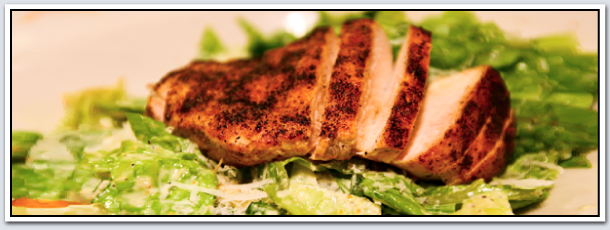 Grand Finales Café & Catering | grilled chicken on salad